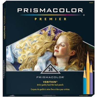 Prismacolor Verithin Colored Pencils,  Set of 24 Assorted Colors  (2427) New