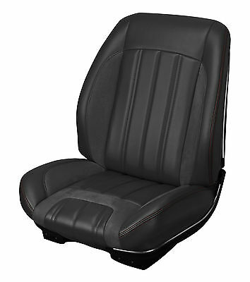 66 Chevelle Coupe TMI Sport R Black Seat Cover Set 2 Buckets + Rear Bench
