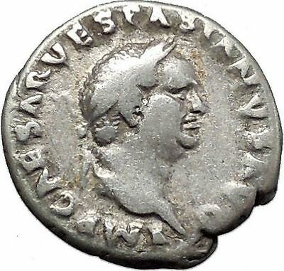 VESPASIAN Ancient Silver Denarius Roman Coin Pax Peace Goddess Caduceus i45586