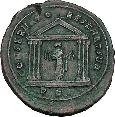 Maxentius Constantine the Great Enemy Ancient  Coin Temple of Carthago  i45681