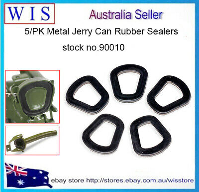 5 PACK Metal Jerry Can Seals,Jerry Can Lid Replacement Seals,Rubber,Black-90010