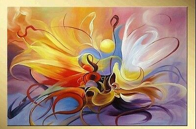 Handwork Modern Oil Painting Beautiful Flame Fireworks (no framed)