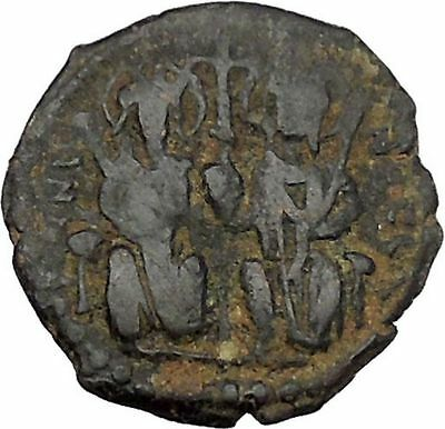 JUSTIN II & SOPHIA 565AD Theoupolis 565AD Ancient Medieval Byzantine Coin i45688
