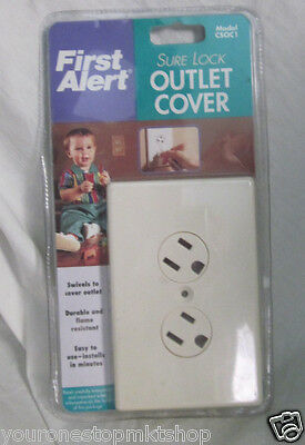 1 New First Alert Sure Lock Outlet Cover Model CSOC1 Child Safety