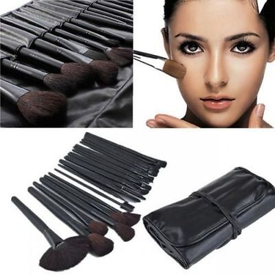 Professional 32pcs Eyebrow Shadow Makeup Brush Set Soft Cosmetic Kit + Pouch Bag