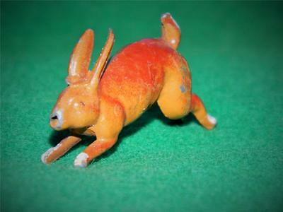 Vintage Cherilea Hollow Cast Painted Lead Farm Series Running Hare Like Britains