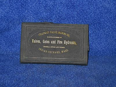 Chapman Valve Co 1882 Gates Fire Hydrant Products Price Book Indian Orchard Mass