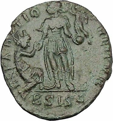 Gratian with kneeling woman & Victory 378AD  Rare Ancient Roman Coin i45654