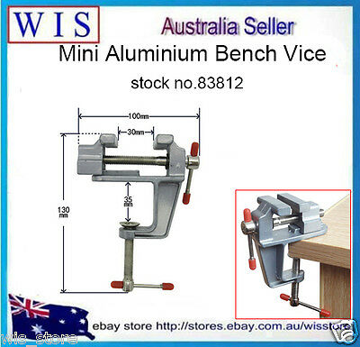 """3.5"""" Aluminum Small Jewelers Hobby Clamp On Table Bench Vise Mini Tool Vice83812"""