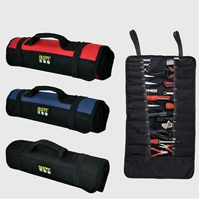 New Canvas 8/10/21 Pocket Roll-Up Pouch Spanner Wrench Tool Storage Bag Box Case