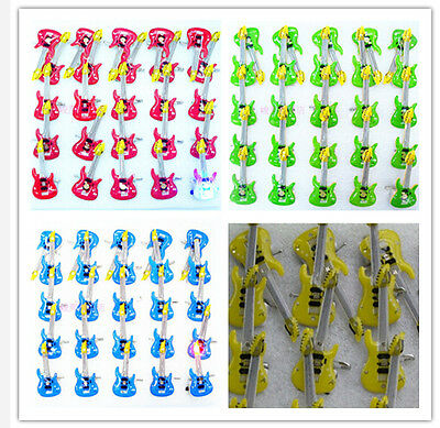 Lot guitar mixes LED Flashing Light Up Badge/Brooch Pins Valentine's day gifts