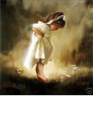"Handicrafts Repro oil painting:""Dandelion little girl On Canvas ""(no framed)"