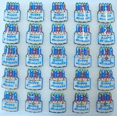New Lot Happy birthday cake LED Flashing Light Up Badge/Brooch Pins party gifts