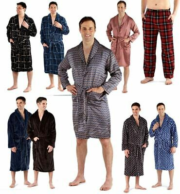 Mens Deluxe Luxury Dressing Gown Robe Bathrobe Soft Winter Warm Fleece Wrap