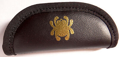 "Spyderco Knife Case C18C Small Zipper Pouch Mock Leather 2.25"" x 5.5"" - Dealer"