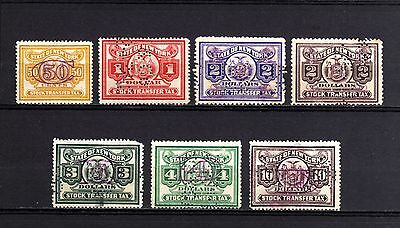 USA-UNITED STATES-OLD stamp LOT REVENUES Perfins Used.LOTE de sellos FISCALES
