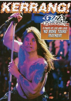 Ozzy Osbourne 1993 8 pages magazine pull out