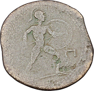 Messana in Sicily under Mamertini 220BC Greek Coin Zeus Naked warrior   i45707