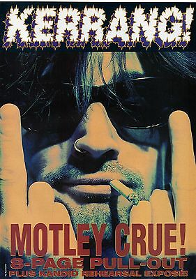 Motley Crue magazine pull-out 8 pages issued in England in 1994