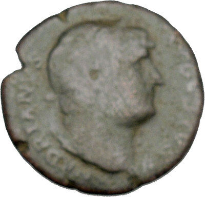 HADRIAN Bisexual Emperor BIG Rare Ancient Roman Coin Salus Health Cult i45720