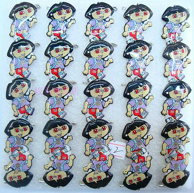 Lot cartoon Lovely girl LED Flashing Light Up Badge/Brooch Pins party gifts