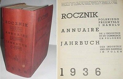 1936 YEARBOOK INDUSTRY AND COMMERCE IN POLAND addressbook
