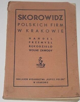 INDEX of Polish companies in Krakow Poland (before 1939)