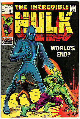 THE INCREDIBLE HULK ISSUE 117 PRODUCED BY MARVEL COMICS vfn+