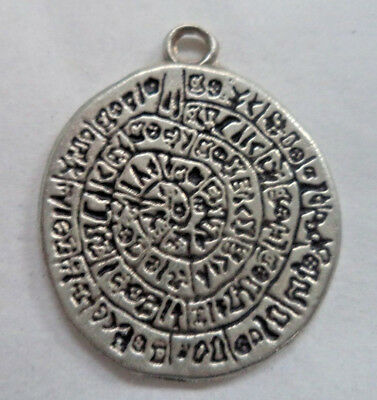 Gnostic Amulet / Talisman, Pewter (Wicca Pagan Ritual Magick Protection) + Cord