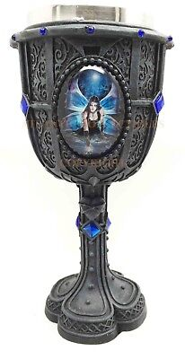 ANNE STOKES IMMORTAL FLIGHT GOTHIC FAIRY ENCHANTMENT 5oz WINE GOBLET CHALICE