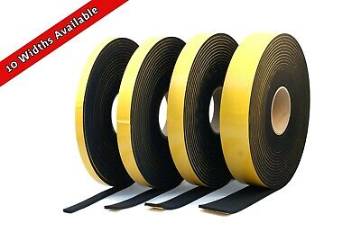 NEOPRENE RUBBER SELF-ADHESIVE STRIP - 5.0m LONG x 5mm THICK