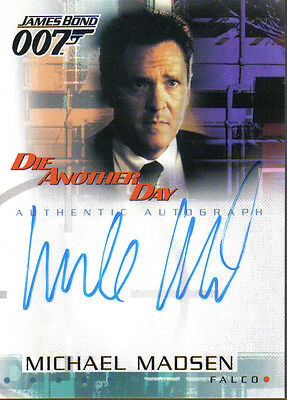 James Bond Die Another Day Autograph Card A3 Michael Madsen As Falco