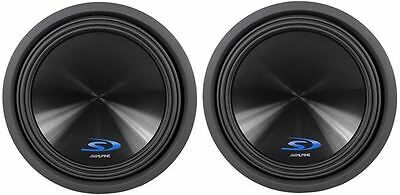 """(2) Alpine Type-S SWS-15D2 15"""" 3000 Watt Dual 2-Ohm Car Stereo Subwoofers Subs"""