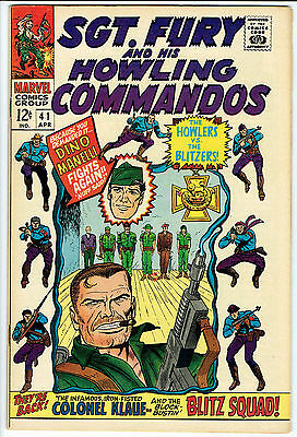 SGT FURY AND HIS HOWLING COMMANDOS ISSUE NUMBER 41 BY MARVEL COMICS fn/vfn