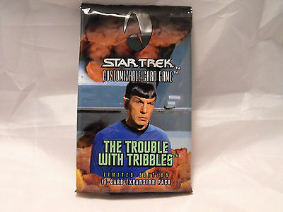 Star Trek Ccg Trouble With Tribbles Factory Sealed Booster Pack Of 11 Cards