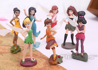 New High Quality PVC 7pcs/set Tinkerbell Fairy Adorable tinker bell Figures T-01