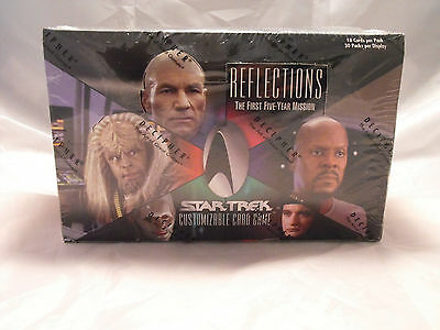 Star Trek Ccg Reflections Complete Sealed Booster Box Of 30 Packs
