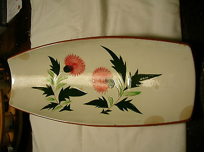 STANGL POTTERY,  Thistle design,  long serving dish, Made in Trenton, N.J.