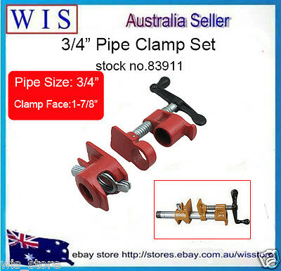 "Heavy Duty Regular Gluing Pipe Clamp Set,Pipe size 3/4"" Woodworking Vice-83911"
