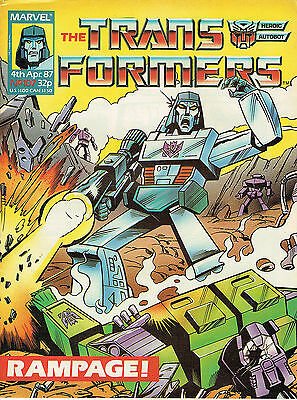 Transformes The Comic Series Issue Number 107 Fn/vfn