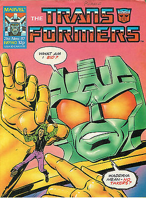 Transformes The Comic Series Issue Number 140 Fn/vfn