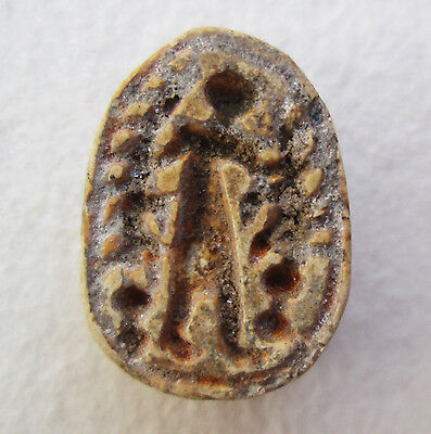 Local (Palestine) Scarab Human Figure Archaeology