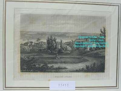 73414-Amerika-USA-United States-Staaten Island-Stahlstich-Steel engraving-1858