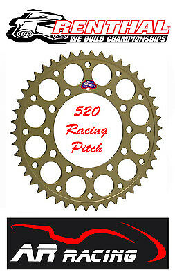 Renthal 47 T Rear Sprocket to fit Marchesini Wheels 100mm pcd ( 520 Race Pitch )