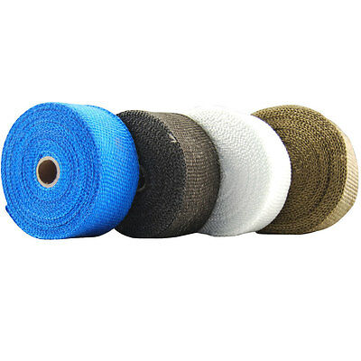 High Temp Double Thick Exhaust Header Wrap - Heat Shield Manifold Tape