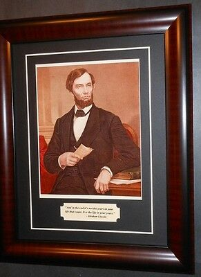 Abraham Lincoln Portrait & Quote Matted & Framed
