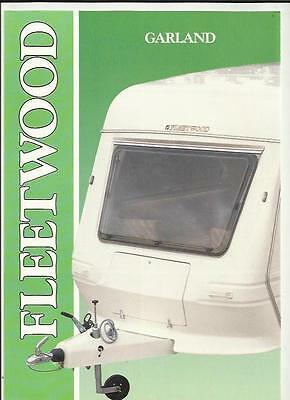FLEETWOOD GARLAND CARAVAN RANGE SALES BROCHURE LATE 80's