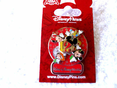 Disney * Dated 2012 - MICKEY & FRIENDS - WDW Spinner * New on Card Trading Pin
