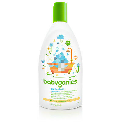 Babyganics Baby Bubble Bath - Safe, Natural, Gentle Ingredients - 20 oz Bottle