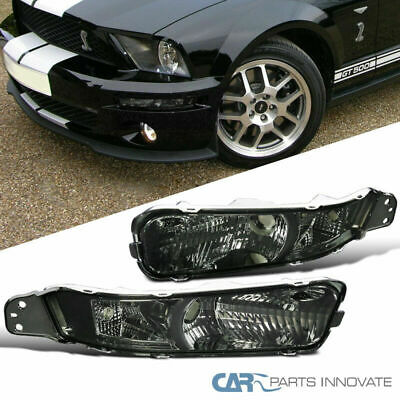 2005-2009 Ford Mustang Smoke Front Bumper Lights Signal Parking Lamp
